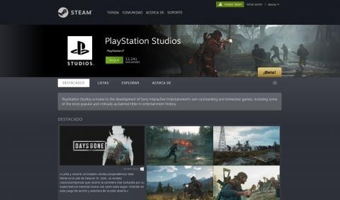 PlayStation page premieres on Steam and announces 41 games and DLC, half are hidden