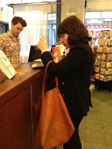 Carrie Brownstein, in Manhattan