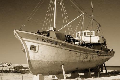 old boat in Latchi harbor