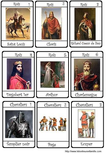 cartes chevaliers 1