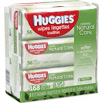 Huggies Natural Care Baby Wipes, Sensitive - 3 pack, 56 count each