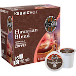 Tully's Hawaiian Blend Coffee K-Cups - 18 count, 7.2 oz box