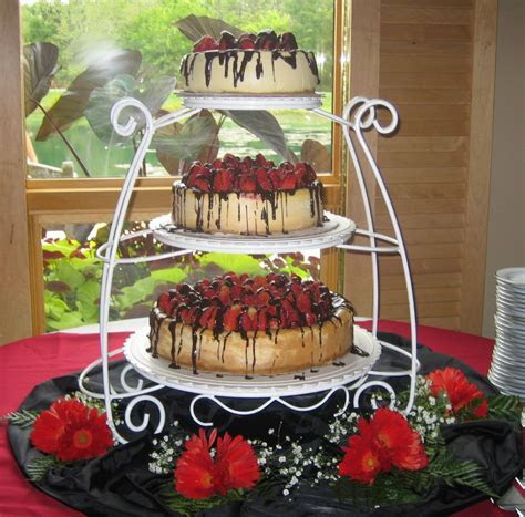 Cheesecake wedding cake. Possible different tiers