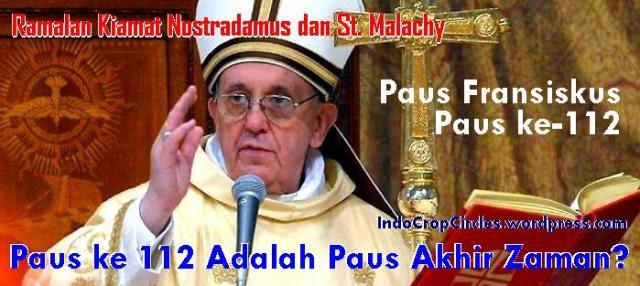 paus Fransiskus paus akhir zaman header