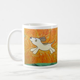 Fetch is Bliss Dog Painting mug
