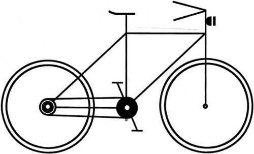 RB bicycle print