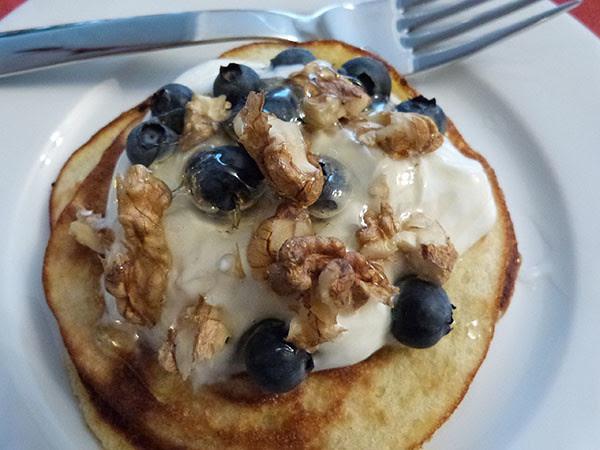 pancakes et fourchette