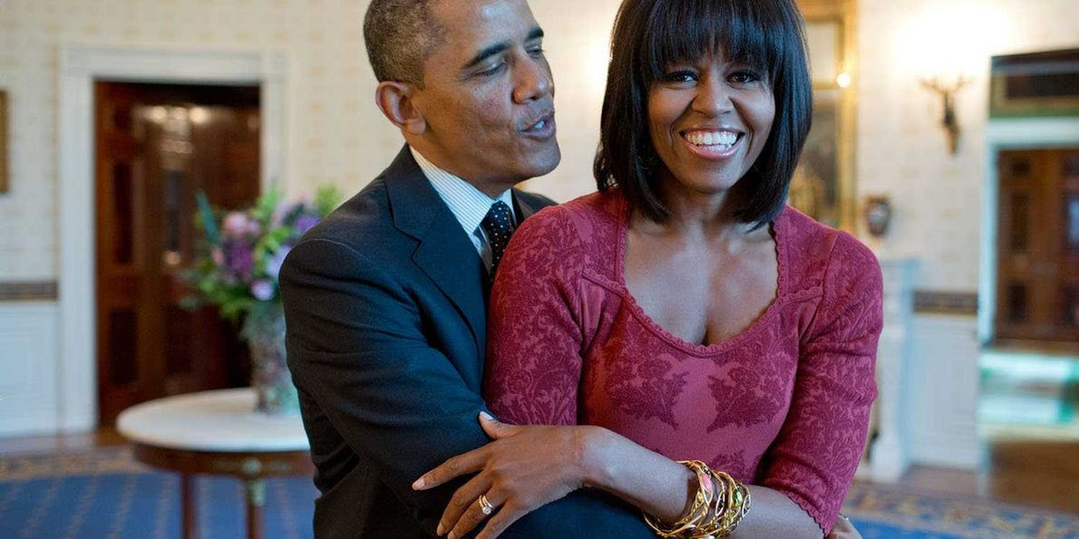 Image result for obama and wife wedding anniversary