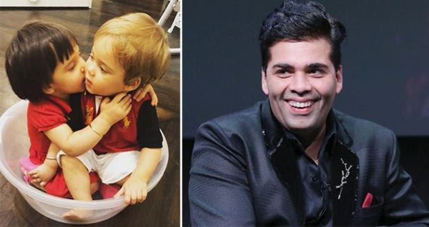 Karan Johar captures another adorable picture of Yash and Roohi sitting in a small tub