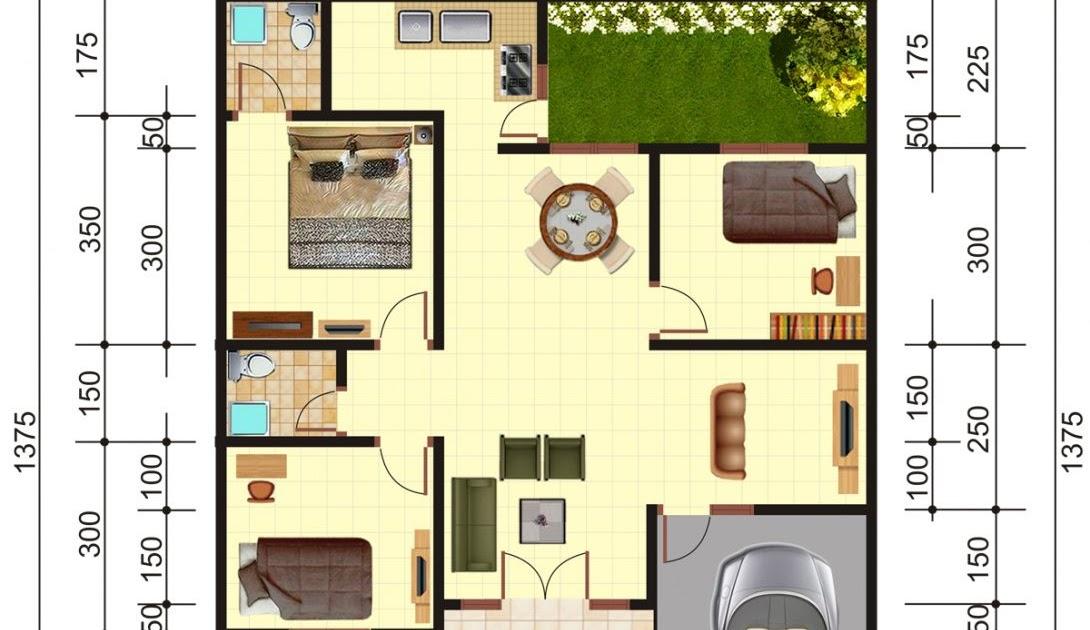 Denah Rumah Type 150 250 - Rumah Central
