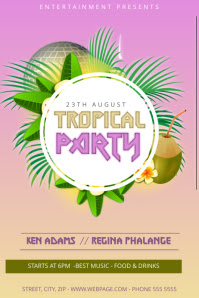 120 Customizable Design Templates For Tropical Postermywall