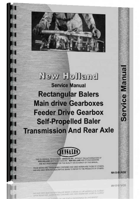 New Holland All Baler Gearbox Service Manual