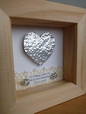 10th tin 11th #steel wedding #anniversary #frame gift