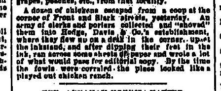 A dozen of chickens - September 22 1883 Oregonian