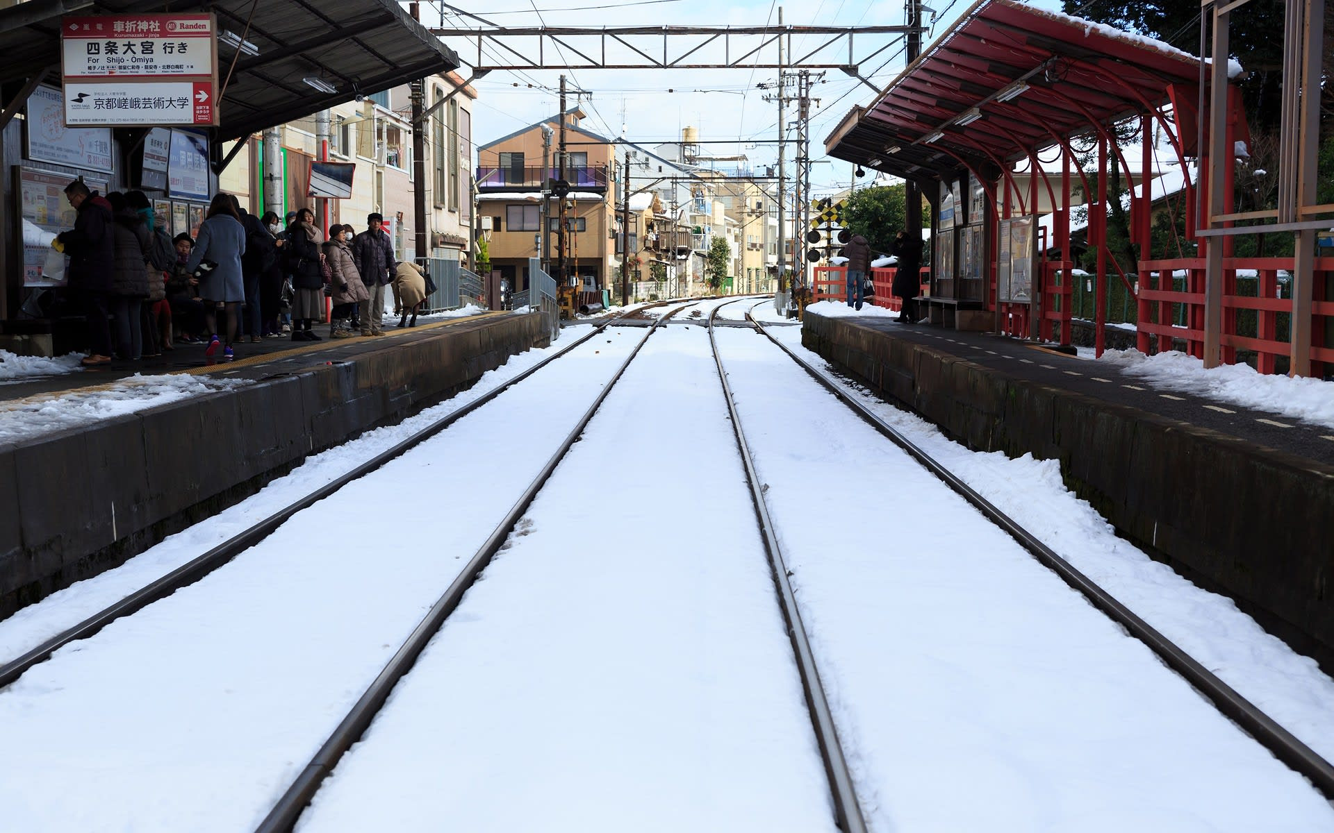 2015年雪の京都 嵐電の壁紙 計17枚 壁紙 日々駄文