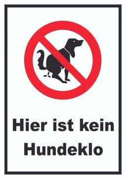 Hier ist kein Hundeklo A4,A3,A2,Aludibond Platte , Verbots ...