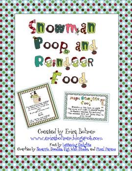 Snowman Poop and Magic Reindeer Food - FREE!