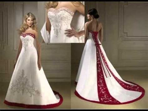 Red & White Wedding Dress   The Color Red   YouTube
