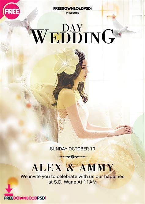 Wedding Flyer Template PSD   FreedownloadPSD.com