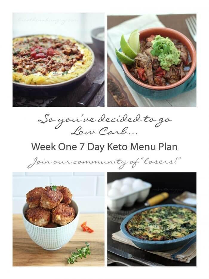 Week One Keto/Low Carb 7 Day Meal Plan & Progress   I Breathe I