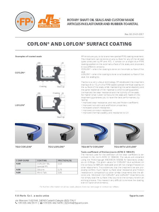 Registered Trademark COFLON® and LOFLON® -  SEALCORE network