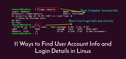 11 Ways to Find User Account Info and Login Details in Linux