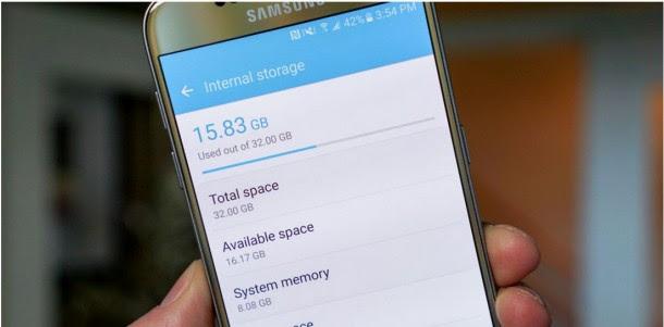 النظام في سامسونج Galaxy S7 يستهلك 8 جيجا من مساحته!