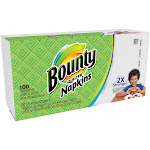 Bounty Paper Napkins, White, 100 Count