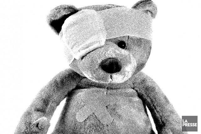 L'enfant maltraité qui témoigne contre son père depuis la semaine dernière, à... (Illustration: La Presse)