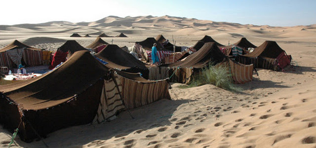Ancient bedouin tents