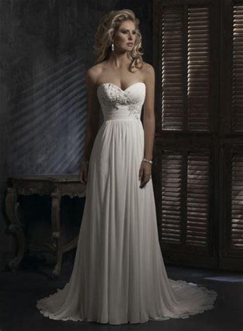 Sweetheart Neckline Empire Waist Lace Chiffon Wedding