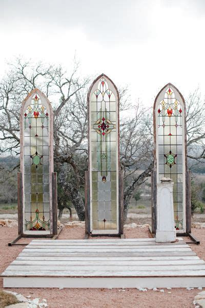 stained glass at an outdoor chapel   The Nichols #wedding