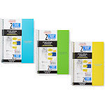 Mead Notepad and Notebook 3-ct. Blue & Green College Ruled 2-Subject Notebook Set One-Size