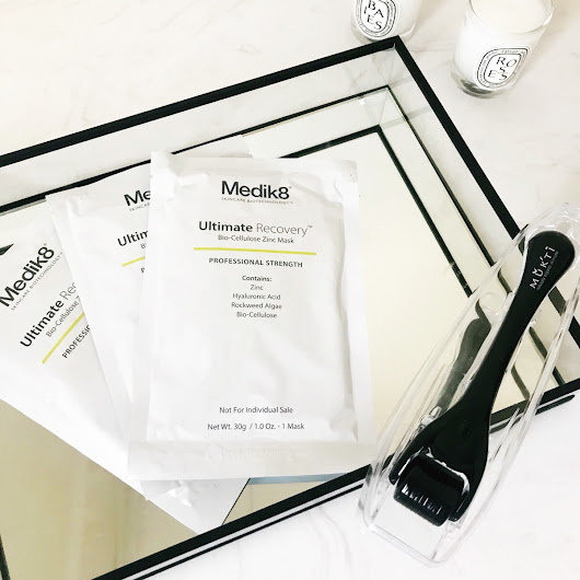 Review: Medik8 Ultimate Recovery Bio-Cellulose Zinc Mask.