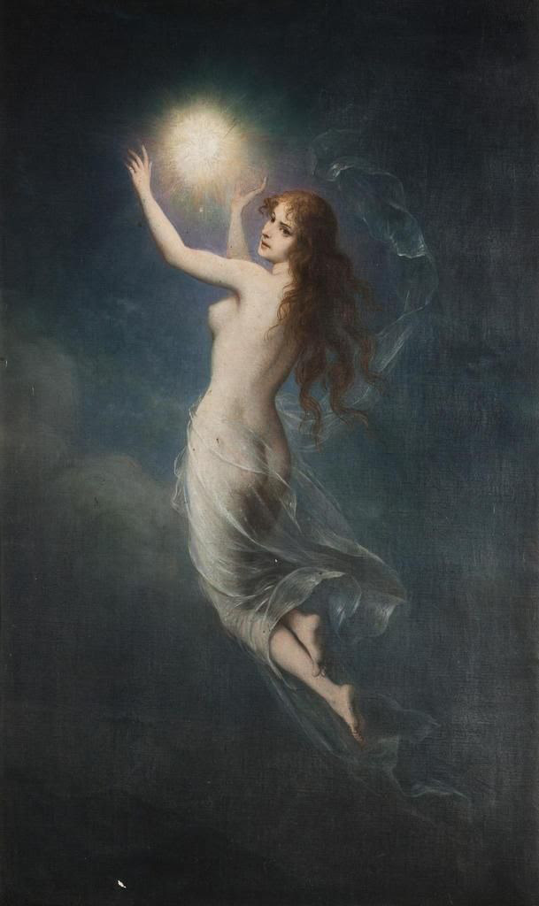 Carl Schweninger (1854-1903) - The Morning Star and the Moon