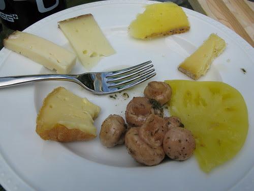 Cato Corner cheeses, tomato, & pickled mushrooms