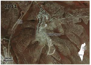 foto aerea di Mitzpe Danny 2011