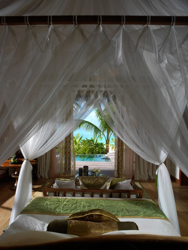 Bedroom in Jumeirah Vittaveli Resort in Maldives