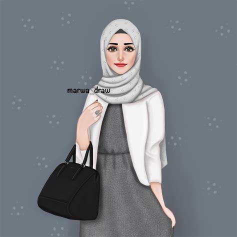 marwa draw draws ms sarra art hijab drawing hijab