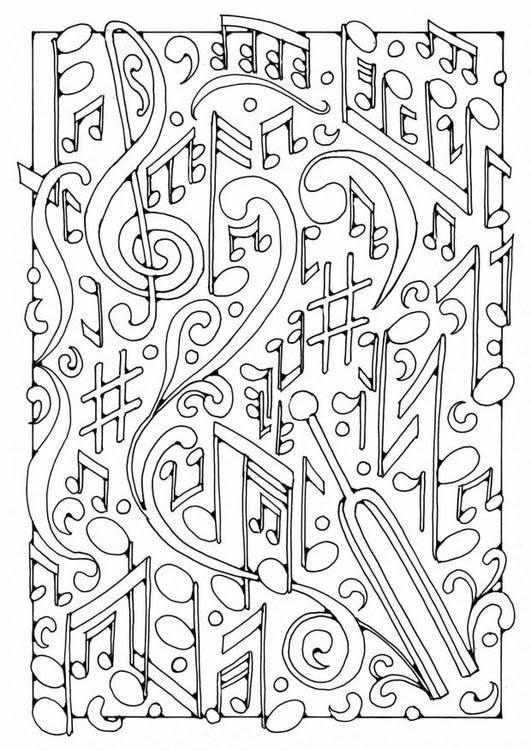 Coloriage Anti Stress Fete De La Musique Notes De Musique 3