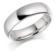 Mens heavy Platinum 6mm Court shape Wedding Ring