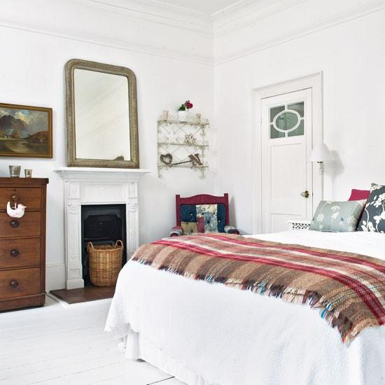 Antique accessorised bedroom   Vintage bedroom ideas   bedroom decorating   Image   Housetohome