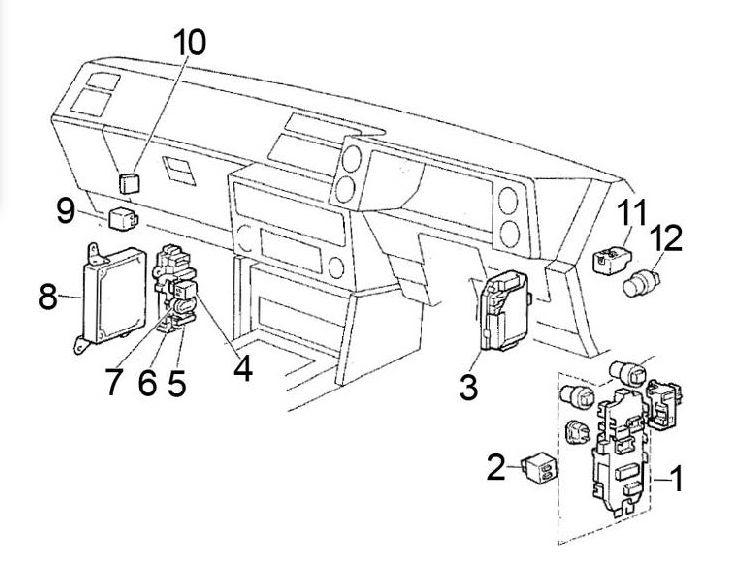 1986 Toyotum Mr2 Engine Fuse Box