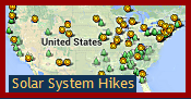 Map of Solar System Hikes