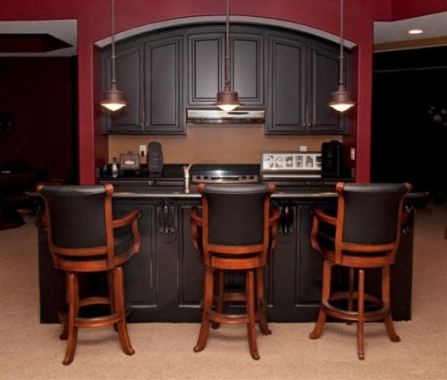 Basement Remodeling Ideas: Basement Bar Cabinets