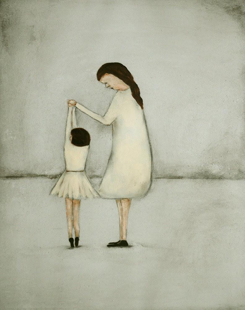 "Nursery art daughter mom ballet girl art  ""Dance - Mae and Bebe"" - KatHannah"
