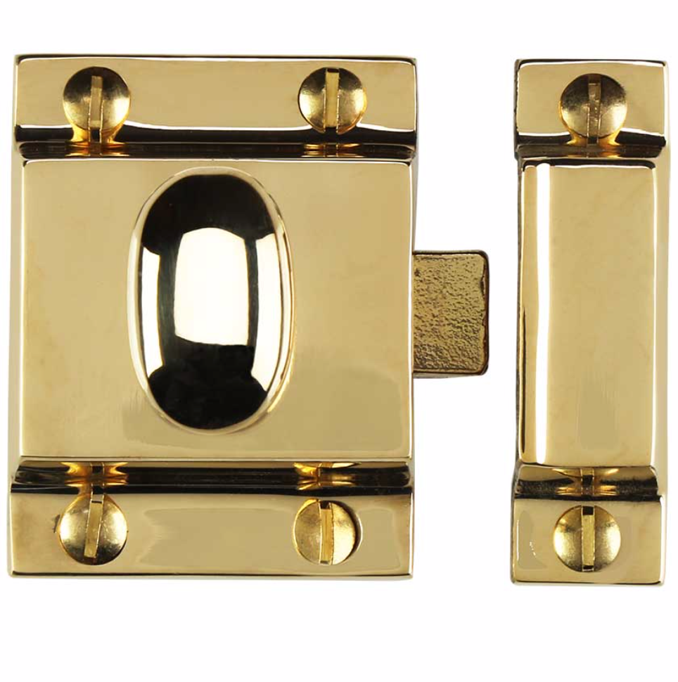 Unlacquered Brass Eloise Cabinet Latch Pull Kitchen Drawer Handle Forge Hardware Studio