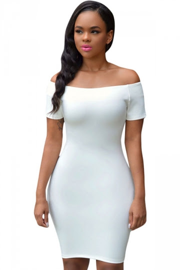 Nairobi white ribbed long sleeve ruched bodycon dress review light purple voonik pink