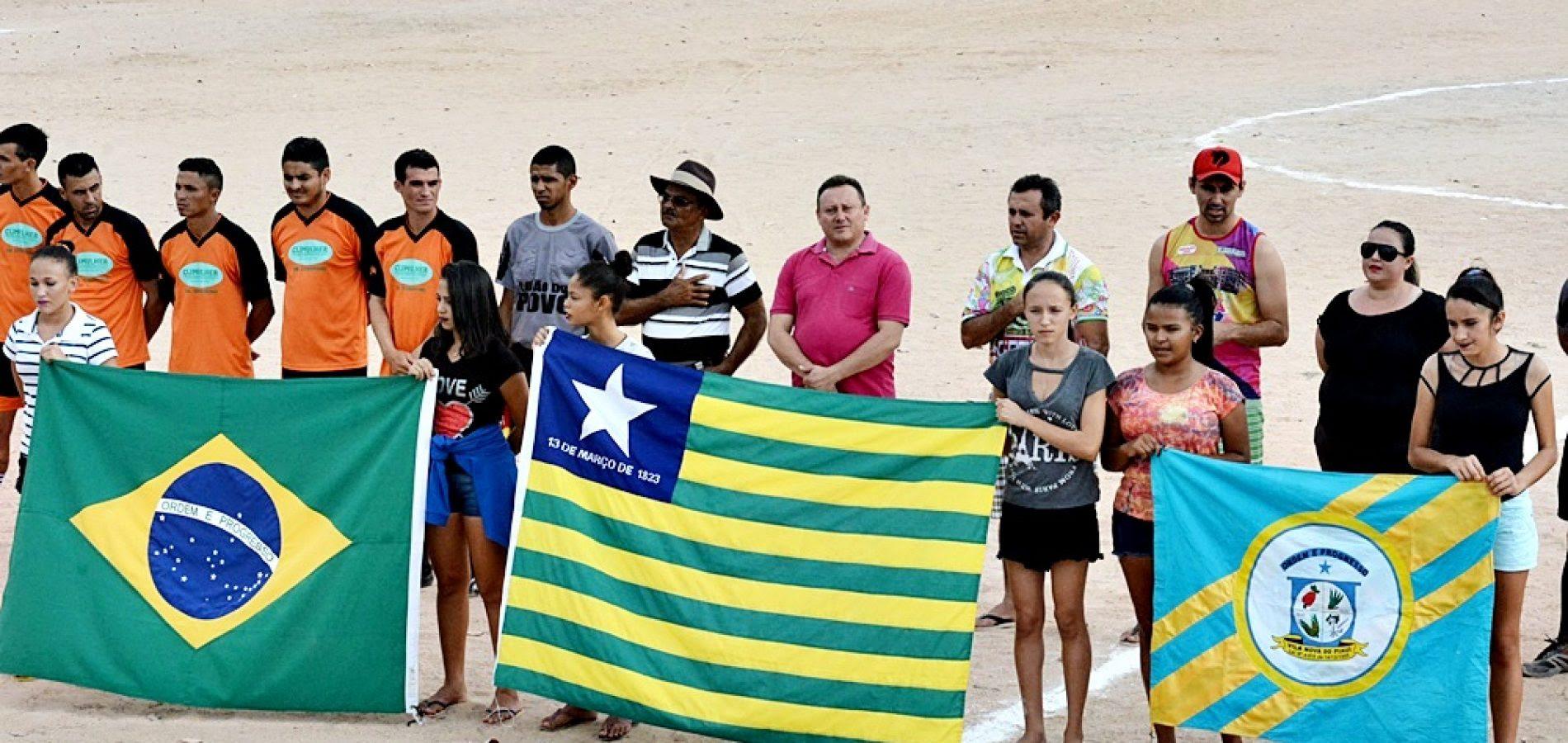 Prefeito Edilson Brito abre oficialmente o 18º Campeonato de Futebol em Vila Nova do Piauí. Veja placar da rodada!