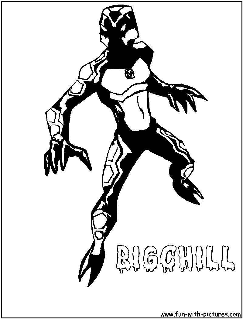 Bigchill Coloring Page